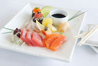 Sashimi platter (raw fish fillets�CJapan)
